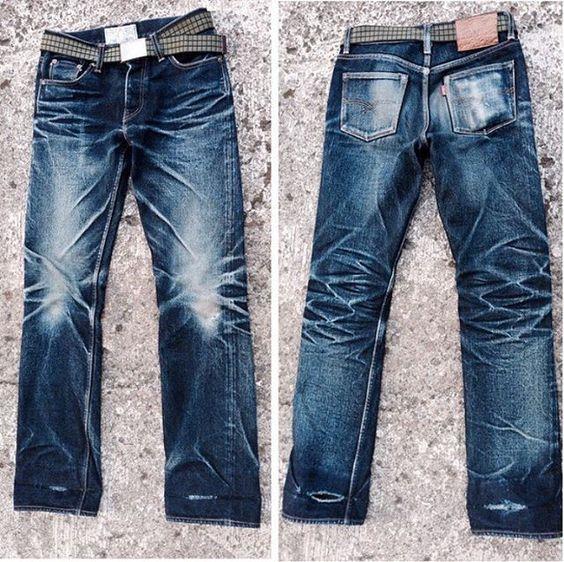 old blueco 21oz heavyweight Beast. Worn for 1,5 years. 5 washes, 1 sea wash & 1 soak.  #denim #Jeans #indigo #selvedge