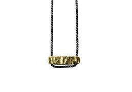 18k Recycled Gold and Oxidized Sterling Necklace