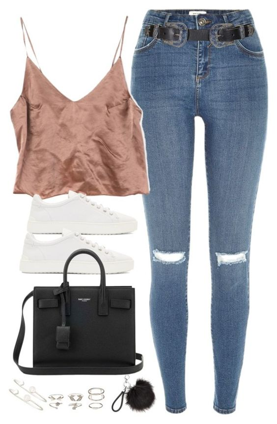 """Untitled#4552"" by fashionnfacts ❤ liked on Polyvore featuring River Island, Topshop, rag & bone, Yves Saint Laurent, Charlotte Russe and Sarah Chloe"