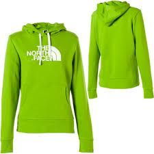 Green North Face Hoodie<3