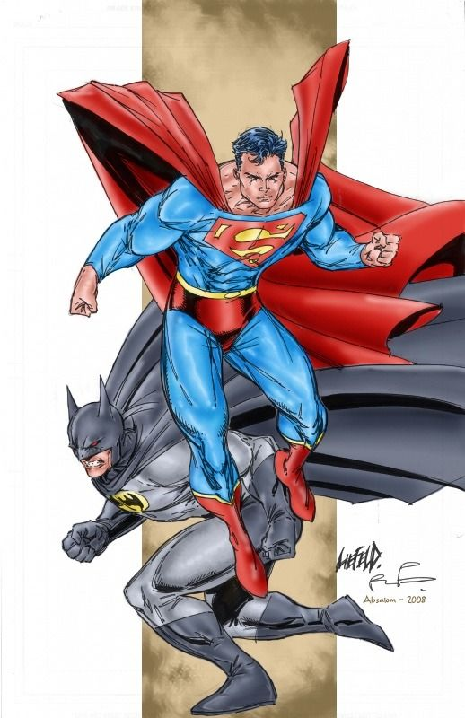Superman And Batman By Rob Liefeld Batman And Superman Superman Batman