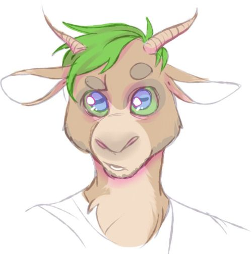 """travelriot: """"@therealjacksepticeye's space goat simulator is my favorite right now """" You know, when I woke up today I thought to myself """"I wonder what I'd look like as a goat"""" and the internet delivered!"""