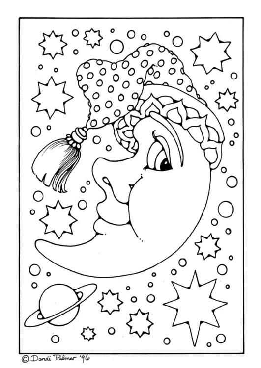 man moon coloring pages - photo#4