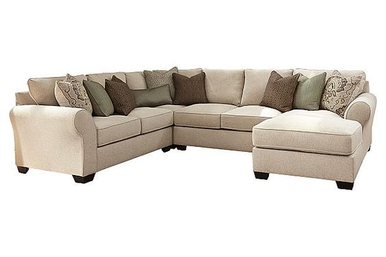 Sofas linens and loveseats on pinterest for Wilcot 4 piece sofa sectional