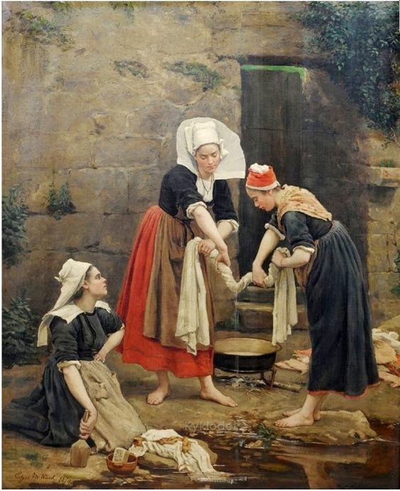 Edgar Melville Ward (American, 1839-1915) - Washing day !