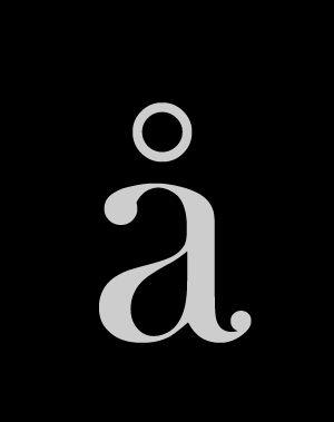 Letra latina minúscula å con anillo superior de la tipografía: Wachinanga. #Typography #Freefont #Tipógrafo #deFharo #Fonts #Serif #Tipografia #Minúsculas #Lowercase #Letters #Letras #Design