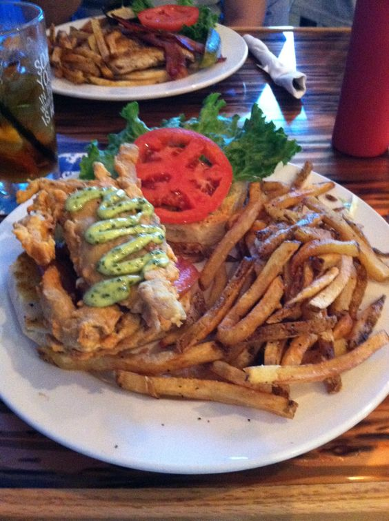 Soft Shell Crab Sandwich at Blue Moon Beach Grill in Nags Head, NC ... so much delicious food it is hard to choose