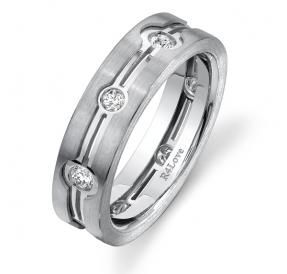 Architectural Diamond Ring 6mm.  Modern and unique wedding ring that any man  will love to wear. This uniquely designed wedding band has 8 diamonds with a total weight of 0.62cts and can be ordered in Platinum, Gold or Palladium and be custom made to any size.  Please go to our website www.rings4love.com to order.