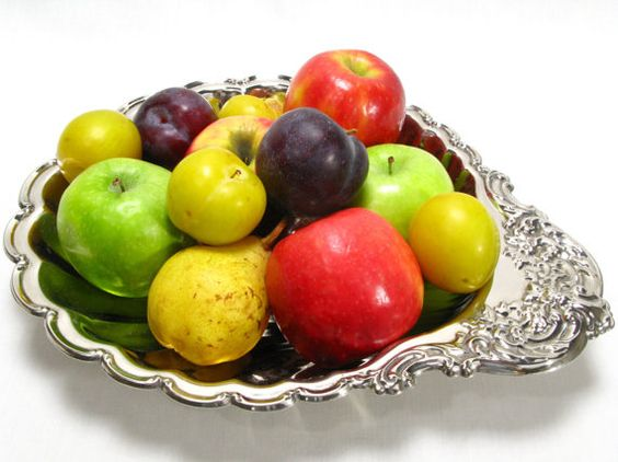 Silver Plated Fruit Bowl Silver Plated by LittleFrenchOwl on Etsy