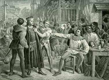 8 May 1450- Jack Cade's Rebellion: Kentishmen revolt against King Henry VI.