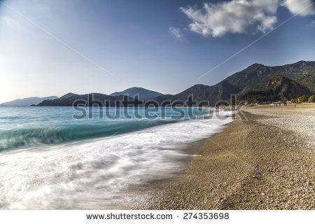 Turkish Mediterrenean Beach - stock photo