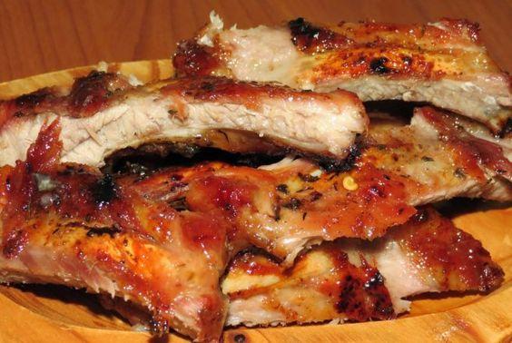 Retete Culinare - Coaste de porc dulci-picante