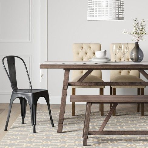 Bourne Base Dining Table Brown Threshold Target Brown