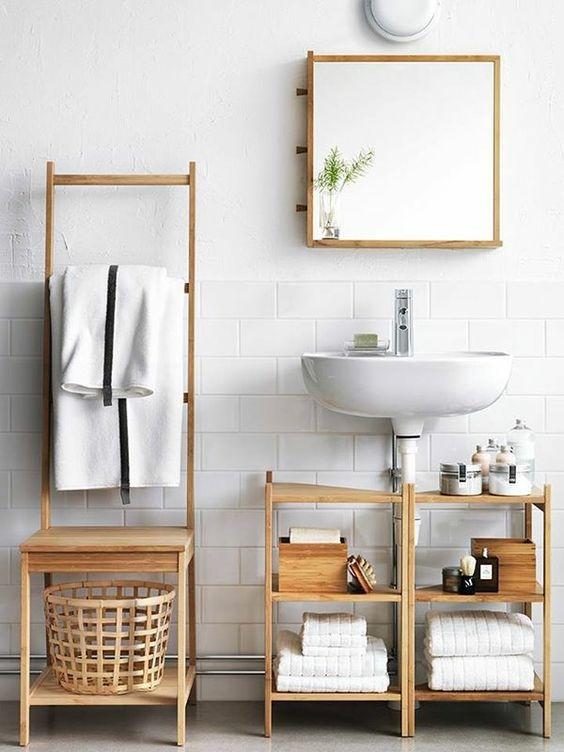 Ideen neue bäder ideen : kleines bad ideen badezimmer möbel badmöbel holz waschbecken ...