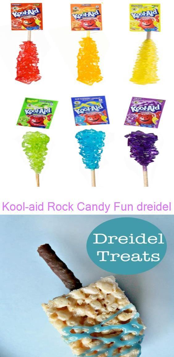 Kool Aid Rock Candy Fun Dreidel Snack Hanukkah Party Food For Kids Nurturestore Hanukkah Party Food Kids Party Food Best Candy