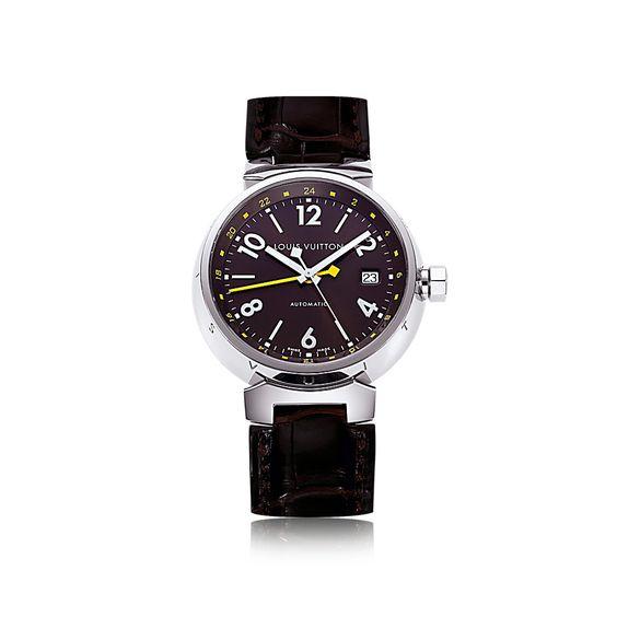 タンブール オトマティック GMT ブラウン (クラシック・ベルト) - ウォッチ|ルイ・ヴィトン公式サイト