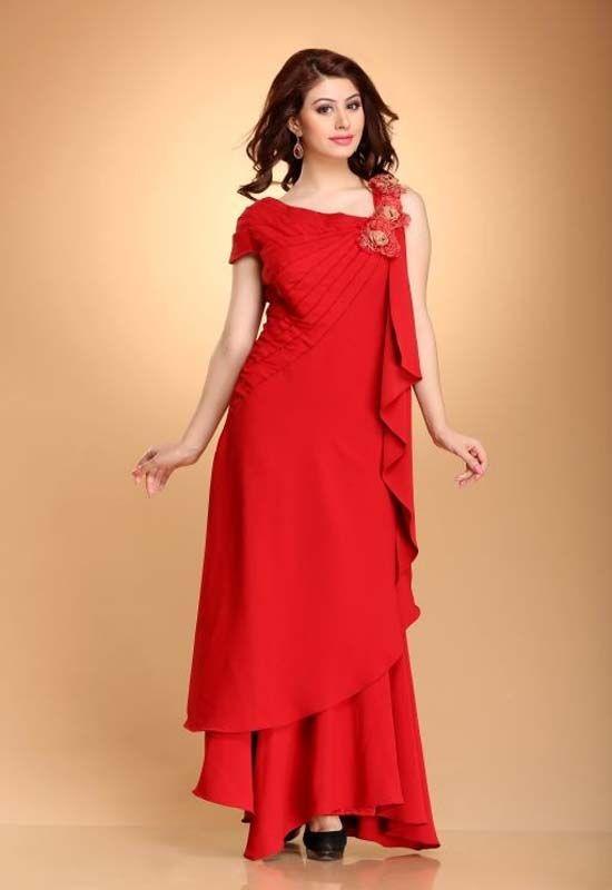 pics for gt latest designer western dresses for girls