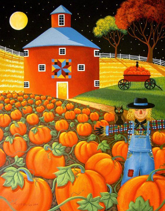 Mary Charles ~ Pumpkin Harvest: