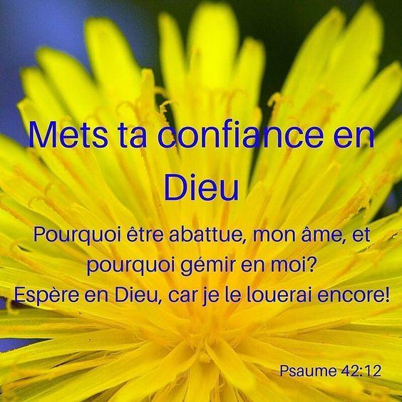 Où as-tu mis ta #confiance ? #versetdujour #laBible: