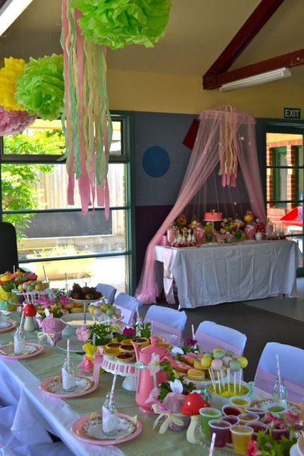 Gardens birthdays and birthday party ideas on pinterest for Garden tea party table decorations