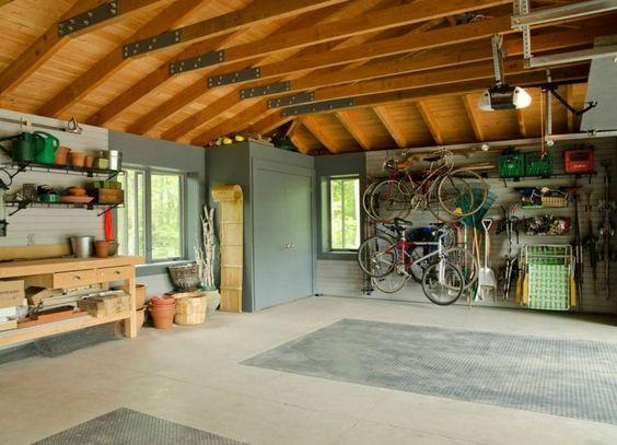 rangement de garage pour : idée de gain de place