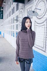 Zig Zag Stitch Cashmere Sweater