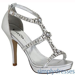 Aidan Silver High Heel at SimplyDresses.com