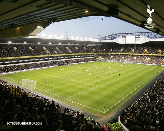 White Hart Lane - home of the mighty Tottenham Hotspur.