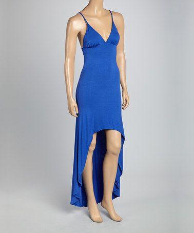 Another great find on #zulily! Blue Empire-Waist Hi-Low Dress #zulilyfinds