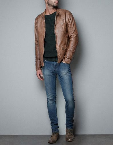 synthetic leather jacket jackets man zara clothes pinterest zara style and classic. Black Bedroom Furniture Sets. Home Design Ideas