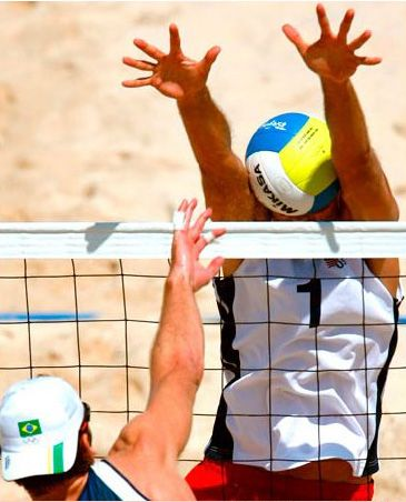 Beach Volleyball Head,  that's gotta hurt.