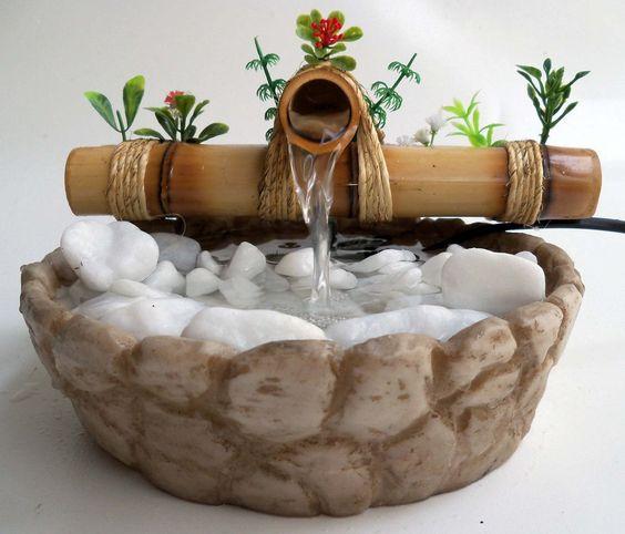 fonte agua cascata bambu mni veja até o final do anu