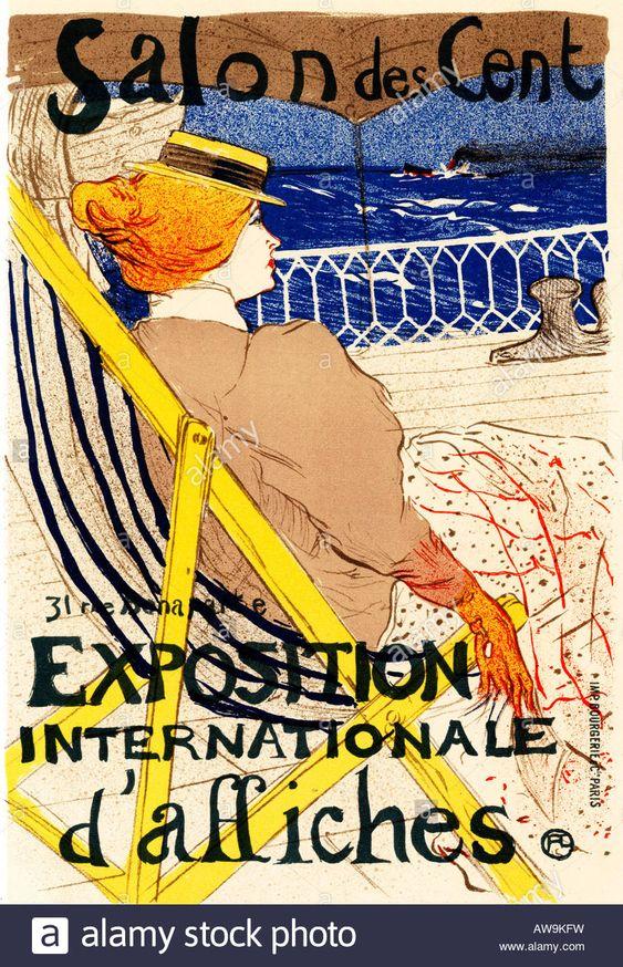 Salon Des Cent 1895 Toulouse Lautrec Art Nouveau Poster For The ...
