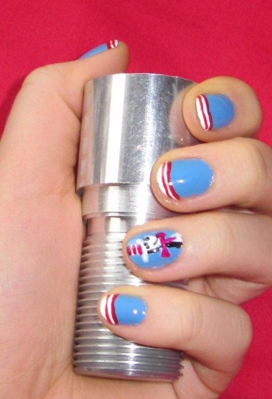 Dr. Seuss Cat in the Hat nail art tutorial!!!!! @Meganne Crosby