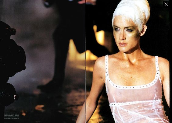 "Amber Valletta "" Pretty Allien "" by Peter Lindbergh Vogue Italia March 2000"