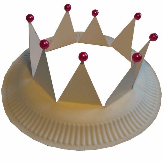 crown paper plate craft. Purim is coming!