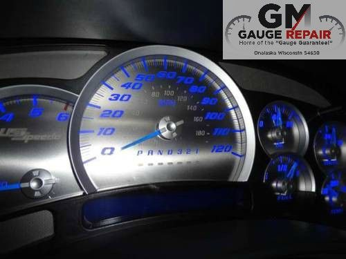 Us Speedo Stainless Steel Gauge Face Kit Blue Text Matching