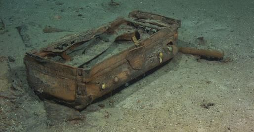 titanic underwater bodies lying scattered on the seabed