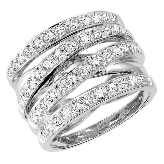 - Majesty Diamonds - 1 1/10 CTW 4-Row Diamond Cocktail Fashion Ring in 14K White Gold, $3,579.00 (http://www.majestydiamonds.com/1-1-10-ctw-4-row-diamond-cocktail-fashion-ring-in-14k-white-gold/)