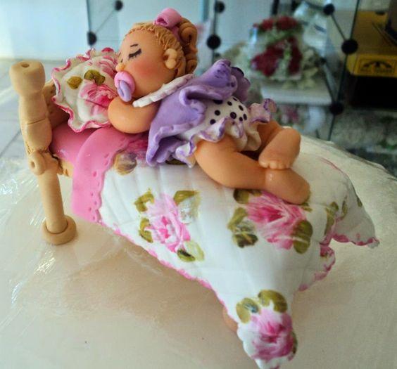Biscuit de Coração: Topo de Bolo Infantil