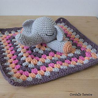 Free Crochet Pattern Elephant Lovey : 17 Best images about Crochet Elephant Security Blanket ...
