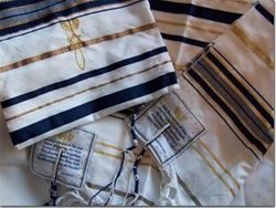 New Covenant Messianic Symbol Tallit and Tallit Bag - (prayer shawl)
