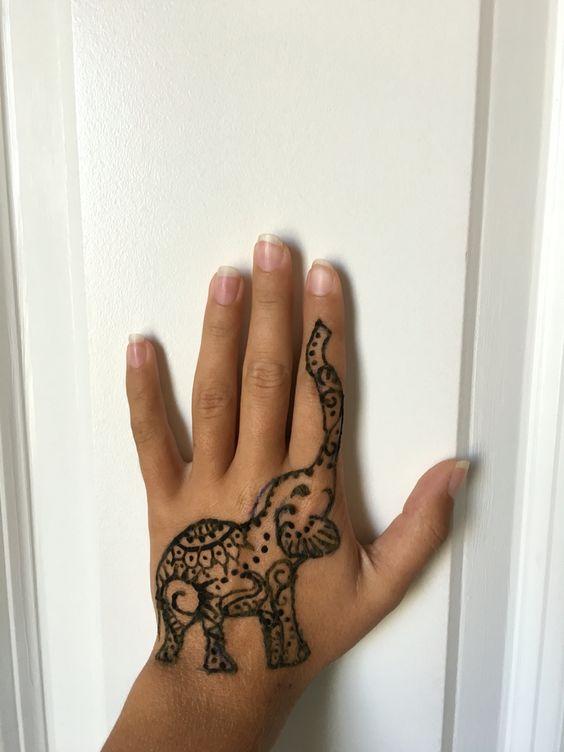 Mehndi Elephant Meaning : Elephant henna tattoo hennas pinterest