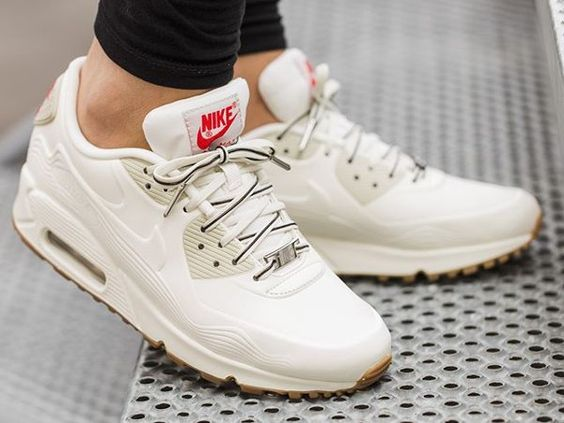Nike Air Max 90 Beige White Fashion Mens Running Trainers Shoes