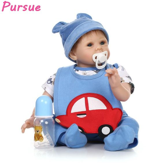 118.44$  Watch now - http://alihyw.worldwells.pw/go.php?t=32763793548 - Pursue Real Baby Dolls for Sale American Mini Doll Baby Real Reborn Baby Dolls 55cm for Girls Boys Toys Baby Doll Bebes Reborn 118.44$