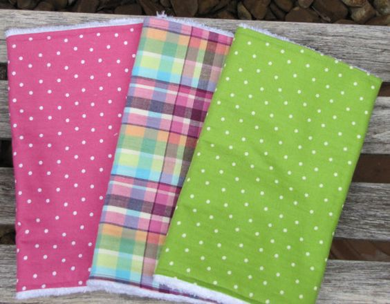 Baby Girl Gift SetPink Plaid Pink and Green Polka by HeartlandShop, $18.00