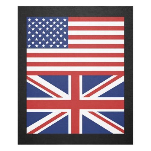 Us And Uk Flags Fleece Blanket Zazzle Com In 2020 Fleece Blanket Flag Uk Flag