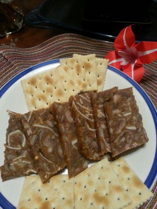 Homemade hog head cheese ann 39 s creations pinterest for Homemade fish food