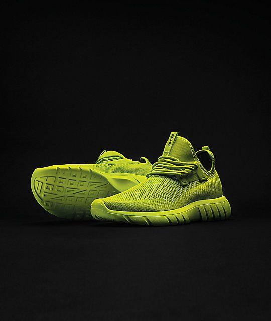 2019的CU4TRO Bolt Lime Green Knit Shoes | 潮鞋