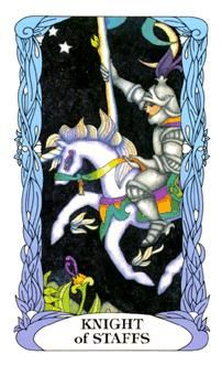 March 3 Tarot Card: Knight of Wands (Moon Garden deck) Your energy is high and you have much to be proud of now ~ enjoy this surge of confidence and success